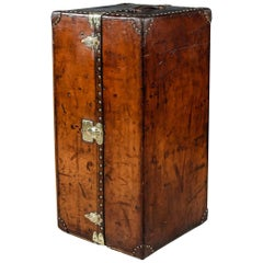 Antique 20th Century Beautiful Louis Vuitton Leather Wardrobe Trunk, circa 1910