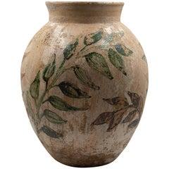 Dolores Porras Mexican Vessel Antique Rustic Clay Vase Made in Oaxaca, 1984