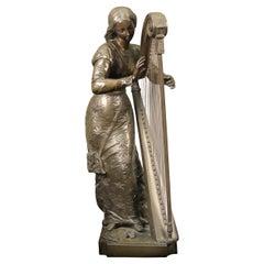 "Late 19th Century Bronze Sculpture Entitled ""Marquerite"" Signed P. Dubois"