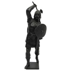 19th Century, French Cast Metal Warrior