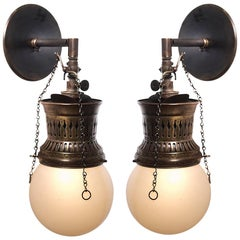 Welsbach Amper-Glow Sconce, Pair