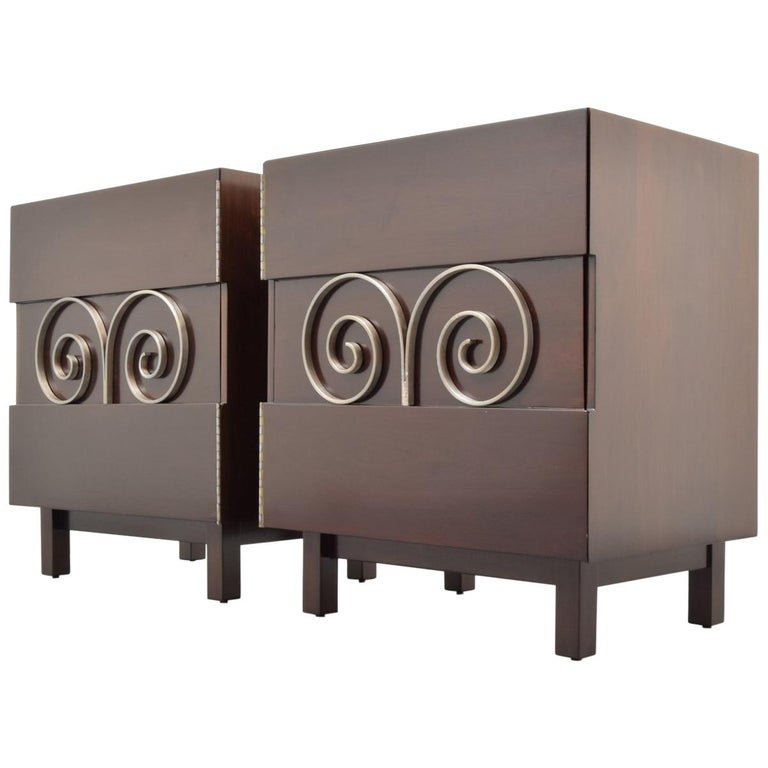 Pair of Edmond Spence Cabinets or Nightstands For Sale