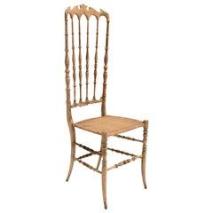 Mid-Century Modern Beechwood Chiavari Chair 1940s Italy