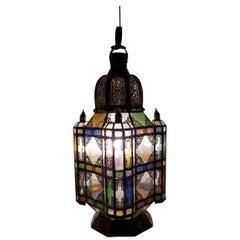 Unique Moroccan Rustic Lantern Chandelier