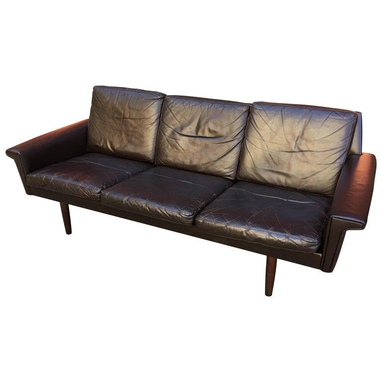 Georg Thams for Vejen Polstermobelfabrik Danish Leather Sofa For Sale