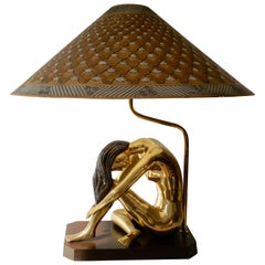 Mid-Century Modern Sculptural Nude Female Figural Table Lamp