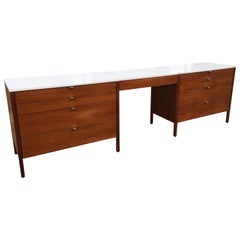 Florence Knoll for Knoll Dresser and Desk/Vanity in Walnut