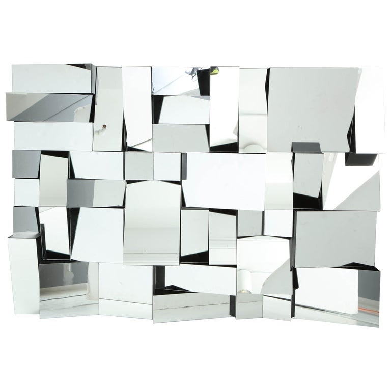 """""""Slopes"""" Mirror by Neal Small, circa 1970s For Sale"""
