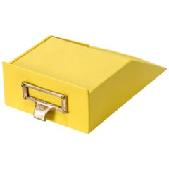 Tanker Drawer Insert Repurposed as Desktop Organizer, Refinished in Yellow