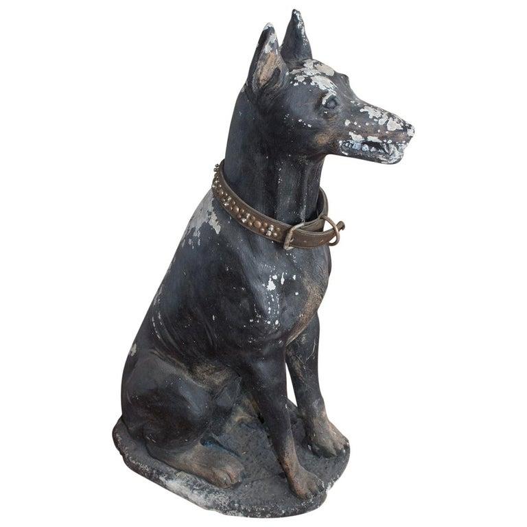 Vintage English Stone Dog