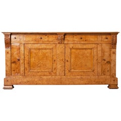French 19th Century Burl Elm Biedermeier Buffet