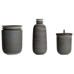Strata, Vessels, Set of 3, Slip Cast Ceramic, N/O Vessels Collection
