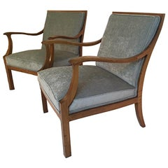 Pair of Open Armchairs by Frits Henningsen