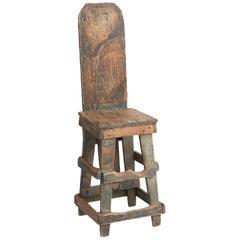 Primitive Factory Chair, circa 1900