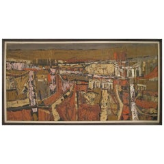 Modernist Abstract Landscape Painting by California Artist Lundy Siegriest