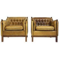 Sven Skipper Leather Lounge Chairs