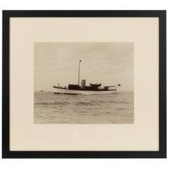 Early Silver Gelatin Photographic Print of the Gentleman's Yacht Frebelle