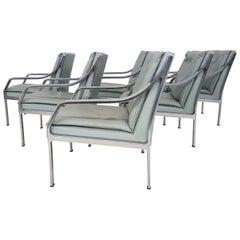 Satz von 6 Art Collection Leder Lounge Stühle von Rudolf Bernd Glatzel für Knoll