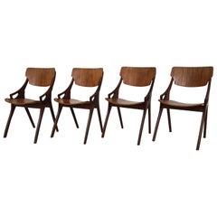 Arne Hovmand Olsen for Mogens Kold Teak Dining Chairs, Denmark, 1960s