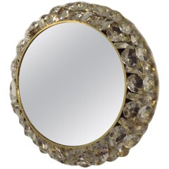"Circular Lighting ""Diamond"" Mirror by Bakalowits, Austria, 1960s"