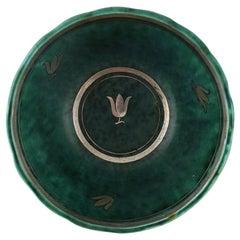 Wilhelm Kåge, Gustavsberg, Argenta Art Deco Bowl Decorated with Flower Buds