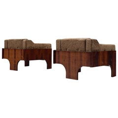 Claudio Salocchi Pair of 'Oriolo' Lounge Chairs