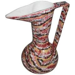 Great Bottle Vase Otello Rosa for San Polo Design Venice Multicolor Very Rare