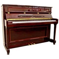 Reid Sohn by Samick 112 Upright Piano in Mahogany with Sheraton Inlay