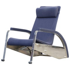 Jean Prouvé Grand Repos 'D80-1' Metal and Fabric Lounge Chair for Tecta