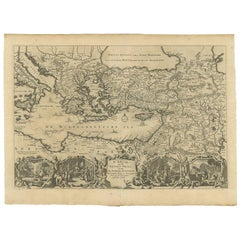 Antique Map Eastern Mediterranean by D. Stoopendaal 'circa 1710'