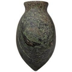 Egyptian Pre-Dynastic Period Ointment Green Serpentine Stone Vessel, Ancient Art