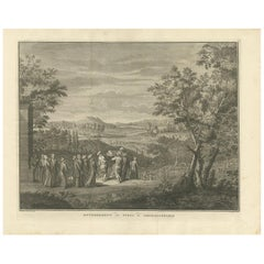 Antique Print of the Funeral at Constantinople by B. Picart, 1729