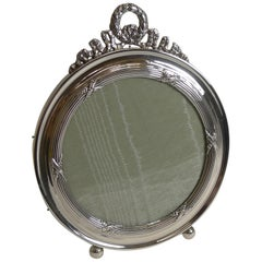Antique English Sterling Silver Photograph Frame, 1909