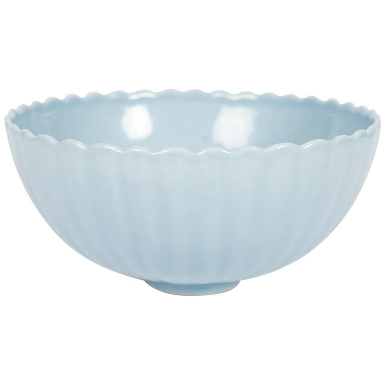 """""""Sky After the Rain"""" Chinese Clair de Lune Bowl For Sale"""