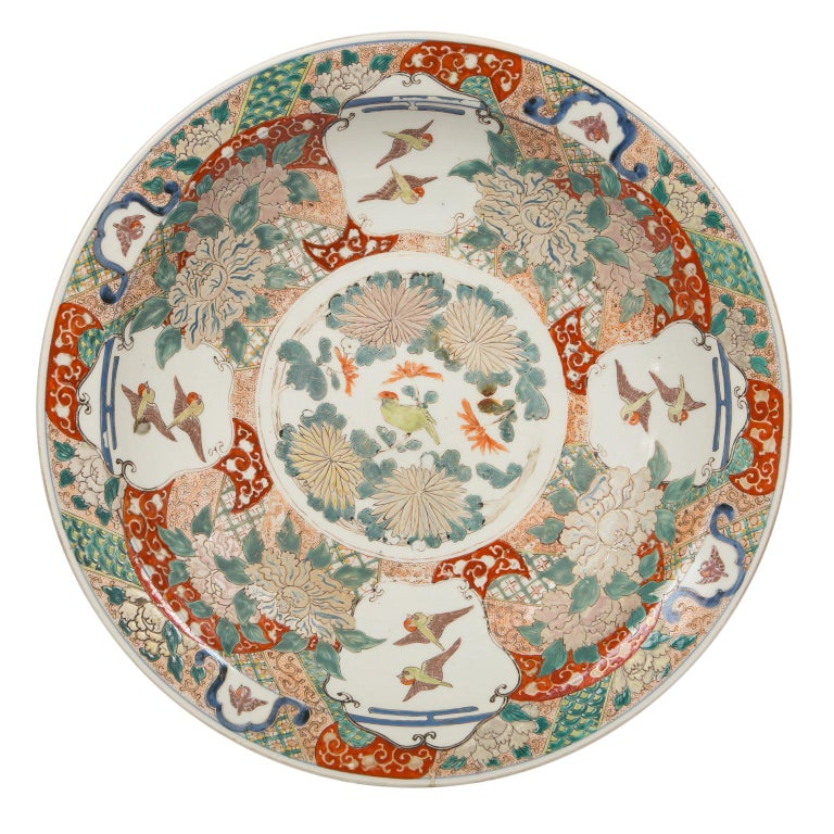 Large Antique Japanese Charger For Sale
