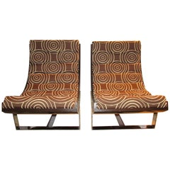 Pair of 20th Century Scoop Lounge Chairs