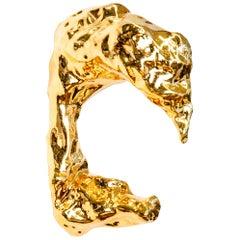 J Schatz Studio 2018 Gold Amorphous Wall Sconce, Organic Modern