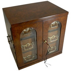 Magnificent Large Antique English Walnut Cigar Cabinet/Box/Humidor, circa 1890