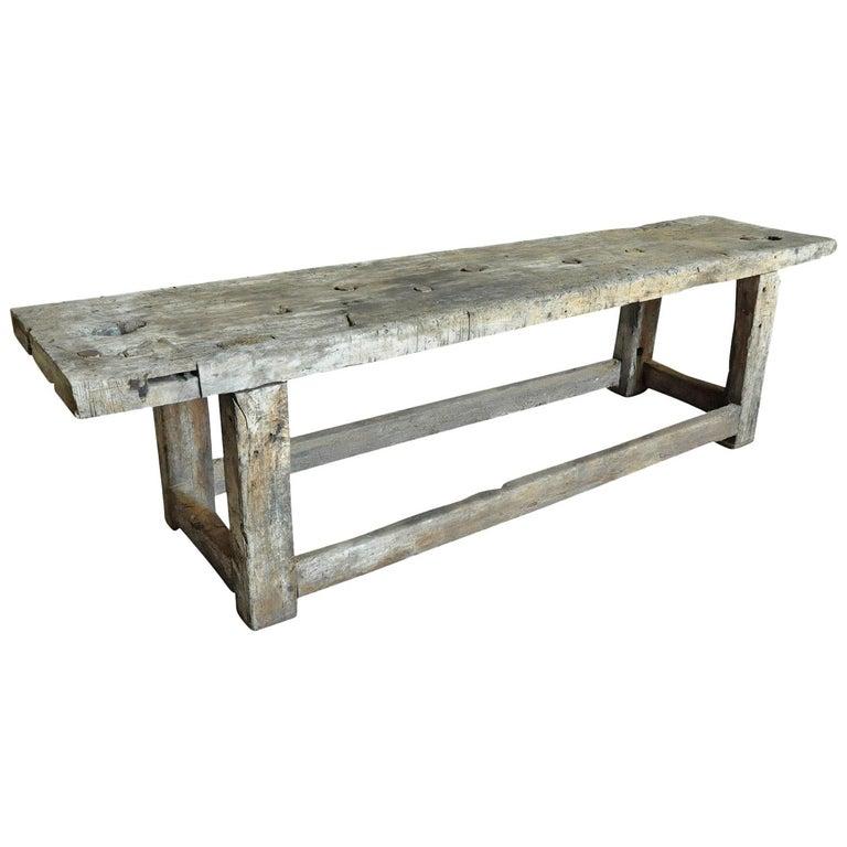Primitive Early 19th Century Etabli - Work Bench