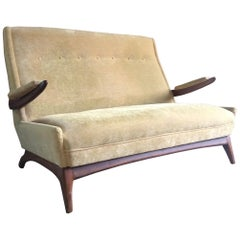 Midcentury Greaves and Thomas Sofa Settee, circa 1950s