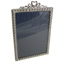 Antique English Sterling Silver Photograph Frame, 1899