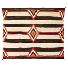 Vintage Third Phase Navajo Chief's Blanket, circa 1900