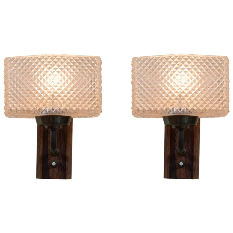 One Pair of Mid-Century Modern Wall Sconces