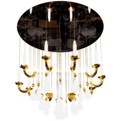 """Contemporary """"Grand Siècle"""" Chandelier in Handmade Limoges Porcelain"""