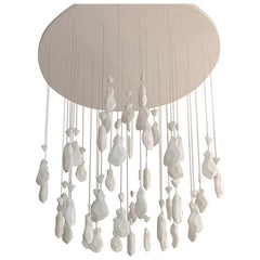 """Contemporary """"Louis 15 - 46"""" Chandelier in Handmade Limoges Porcelain"""