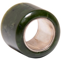 18th Century Chinese Jade Archer's Ring