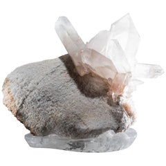 Studio Greytak 'Himalayan Quartz with Druzy on Crystal Base' Meru Peak Quartz