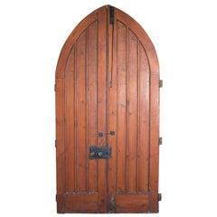 Pair of Antique Gothic Chapel Doors