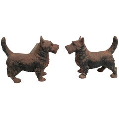 Pair of Scottie Dog Andirons