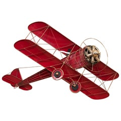 Super Fun Bold Red Airplane Wall Sculpture by Curtis Jere